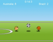 spelletje 1 tegen 1 voetbal
