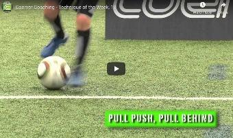 Coerver techniektraining - Pull push pull behind