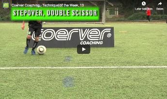 Veldvoetbal - techniekoefening coerver