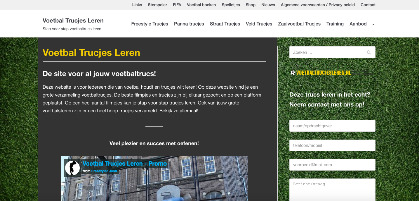 lay-out website voetbal