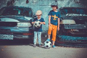 straat trucjes - straatvoetballen