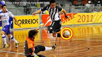 falcao skills, tricks en goals - zaalvoetbal